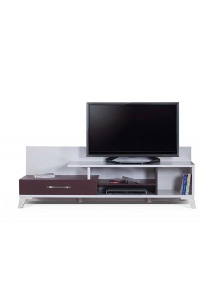 Lotus TV Ünitesi (Beyaz & Bordo)