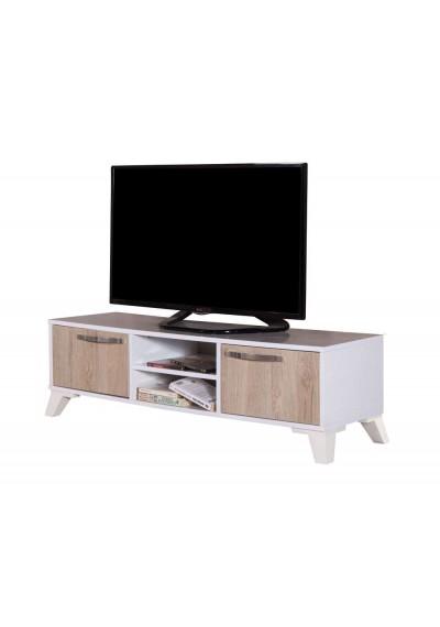 TV Sehpa - Panosuz (Beyaz & Sofya)
