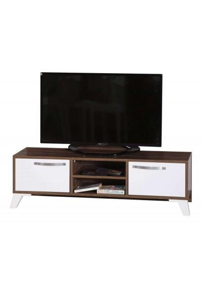 TV Sehpa - Panosuz (Ceviz & Beyaz)