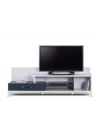 Lotus TV Ünitesi (Beyaz & Lacivert)