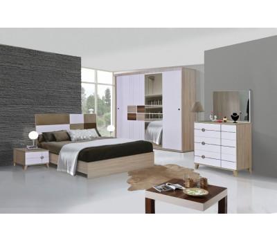 OMS 390 Sonoma - Beyaz Yatak Odası Takımı