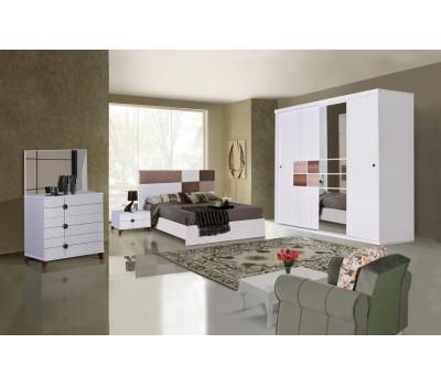 OMS 390 Beyaz Yatak Odası Takımı