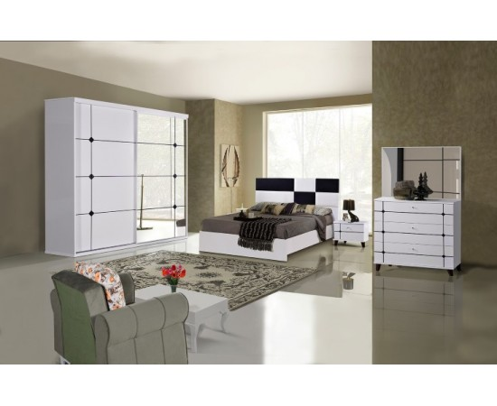 OMS 380 Beyaz Yatak Odası Takımı