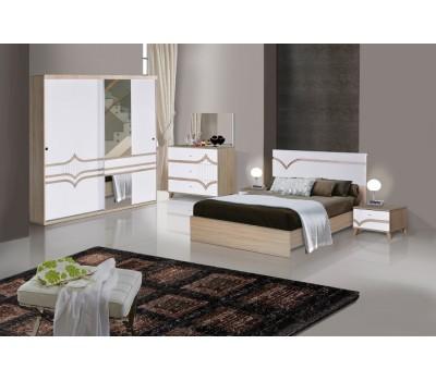 OMS 370 Sonoma - Beyaz Yatak Odası Takımı