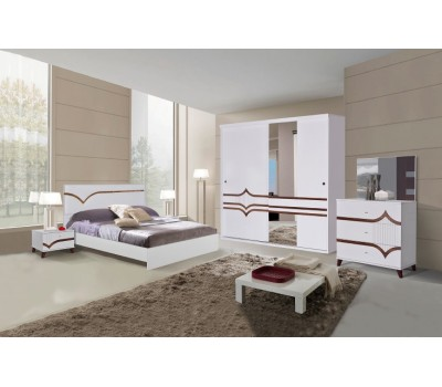 OMS 370 Beyaz Yatak Odası Takımı