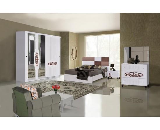 OMS 360 Beyaz Yatak Odası Takımı