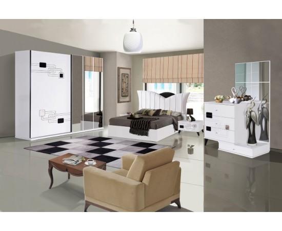 OMS 350 Beyaz Yatak Odası Takımı