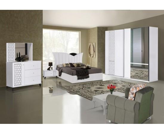 OMS 340 Beyaz Yatak Odası Takımı