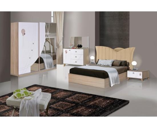 OMS 330 Sonoma - Beyaz Yatak Odası Takımı